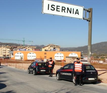 Alcuni posti di blocco dei Carabinieri