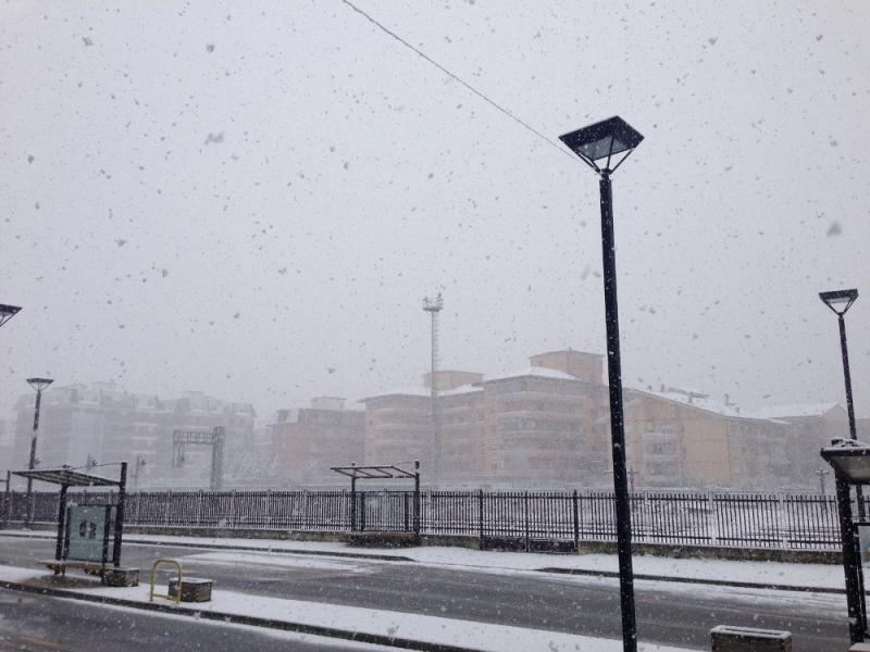 La perturbazione nevosa che sta interessando la città