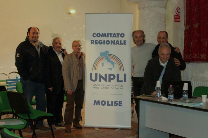 Ivan Perriera e il direttivo Unpli Molise