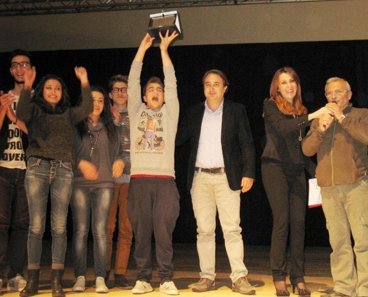 Un momento della premiazione svoltasi all'auditorium di Isernia