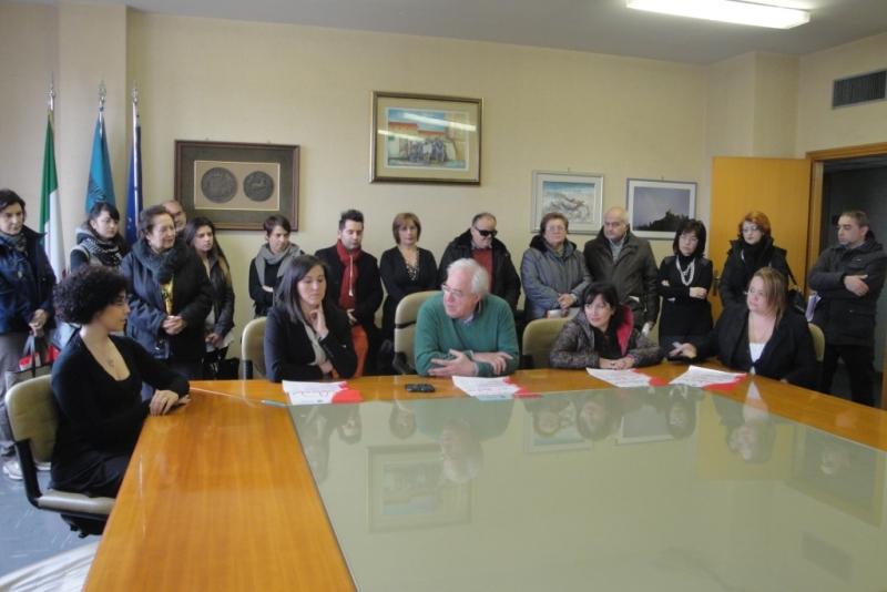 Un momento della conferenza stampa svoltasi in Provincia