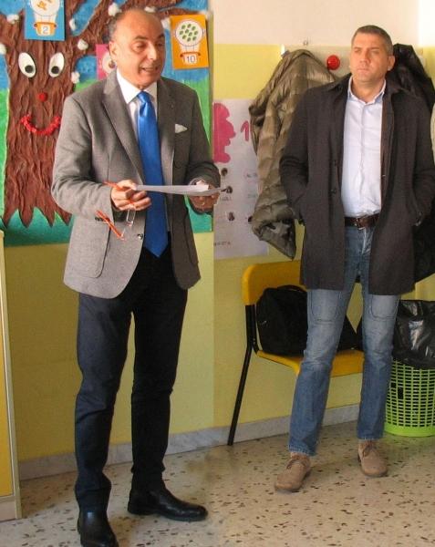Brasiello e Galasso durante l'incontro svoltosi alla scuola San Giovanni Bosco