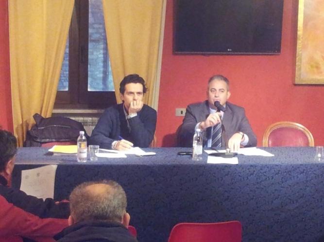 L'assessore Scarabeo durante l'incontro tenutosi ad Agnone
